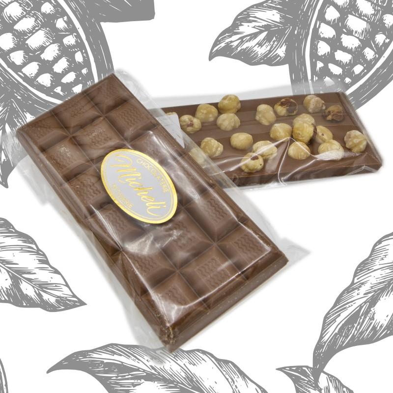 Plaques Chocolat au Lait et Noisettes du Piémont